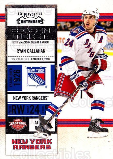 2010-11 Panini Contenders #92 Ryan Callahan<br/>3 In Stock - $1.00 each - <a href=https://centericecollectibles.foxycart.com/cart?name=2010-11%20Panini%20Contenders%20%2392%20Ryan%20Callahan...&quantity_max=3&price=$1.00&code=283376 class=foxycart> Buy it now! </a>