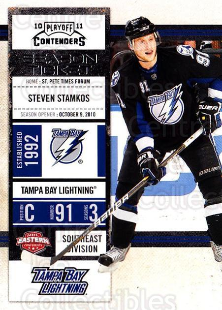 2010-11 Panini Contenders #97 Steven Stamkos<br/>2 In Stock - $2.00 each - <a href=https://centericecollectibles.foxycart.com/cart?name=2010-11%20Panini%20Contenders%20%2397%20Steven%20Stamkos...&quantity_max=2&price=$2.00&code=283381 class=foxycart> Buy it now! </a>