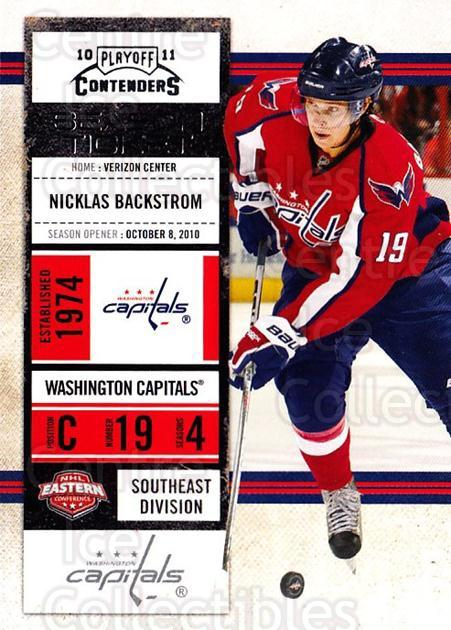 2010-11 Panini Contenders #100 Nicklas Backstrom<br/>2 In Stock - $1.00 each - <a href=https://centericecollectibles.foxycart.com/cart?name=2010-11%20Panini%20Contenders%20%23100%20Nicklas%20Backstr...&quantity_max=2&price=$1.00&code=283384 class=foxycart> Buy it now! </a>
