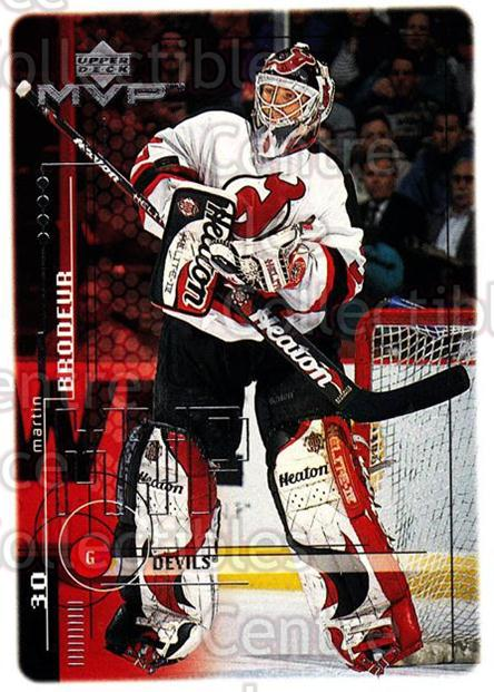 1998-99 Upper Deck MVP #117 Martin Brodeur<br/>10 In Stock - $2.00 each - <a href=https://centericecollectibles.foxycart.com/cart?name=1998-99%20Upper%20Deck%20MVP%20%23117%20Martin%20Brodeur...&quantity_max=10&price=$2.00&code=283482 class=foxycart> Buy it now! </a>