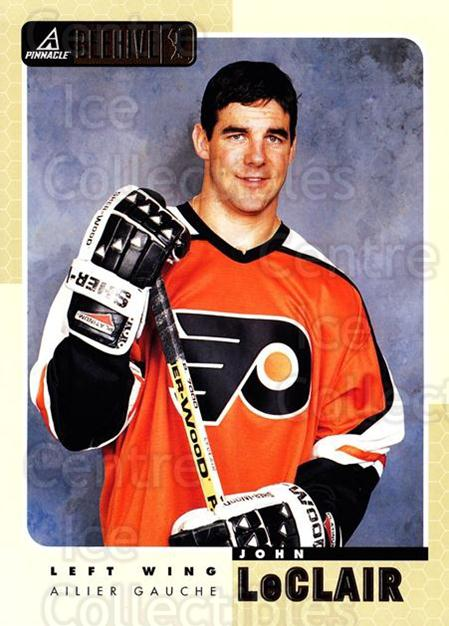 1997-98 Beehive #5 John LeClair<br/>5 In Stock - $3.00 each - <a href=https://centericecollectibles.foxycart.com/cart?name=1997-98%20Beehive%20%235%20John%20LeClair...&quantity_max=5&price=$3.00&code=283593 class=foxycart> Buy it now! </a>
