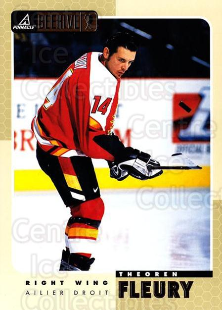 1997-98 Beehive #18 Theo Fleury<br/>4 In Stock - $3.00 each - <a href=https://centericecollectibles.foxycart.com/cart?name=1997-98%20Beehive%20%2318%20Theo%20Fleury...&quantity_max=4&price=$3.00&code=283606 class=foxycart> Buy it now! </a>