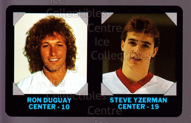 1985-86 7-Eleven Credit Cards 7-11 #5 Ron Duguay, Steve Yzerman<br/>3 In Stock - $5.00 each - <a href=https://centericecollectibles.foxycart.com/cart?name=1985-86%207-Eleven%20Credit%20Cards%207-11%20%235%20Ron%20Duguay,%20Ste...&price=$5.00&code=283676 class=foxycart> Buy it now! </a>