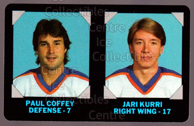 1985-86 7-Eleven Credit Cards 7-11 #6 Paul Coffey, Jari Kurri<br/>49 In Stock - $3.00 each - <a href=https://centericecollectibles.foxycart.com/cart?name=1985-86%207-Eleven%20Credit%20Cards%207-11%20%236%20Paul%20Coffey,%20Ja...&quantity_max=49&price=$3.00&code=283677 class=foxycart> Buy it now! </a>