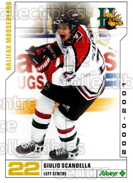 2000-01 Halifax Mooseheads #21 Giulio Scandella<br/>6 In Stock - $3.00 each - <a href=https://centericecollectibles.foxycart.com/cart?name=2000-01%20Halifax%20Mooseheads%20%2321%20Giulio%20Scandell...&quantity_max=6&price=$3.00&code=283692 class=foxycart> Buy it now! </a>