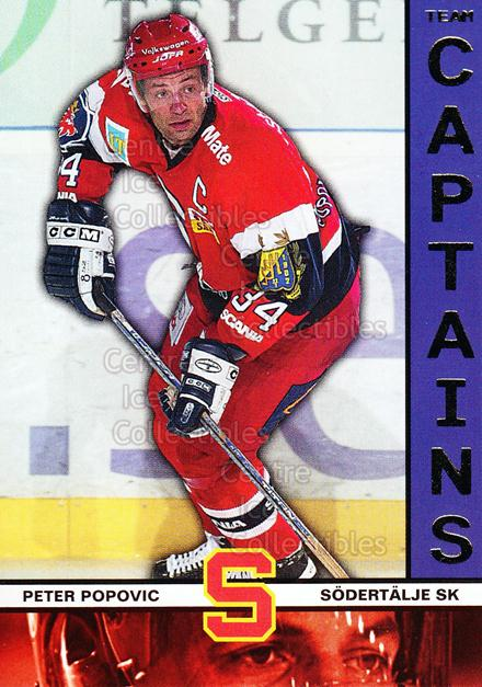 2002-03 Swedish Elitset Team Captains #9 Peter Popovic<br/>3 In Stock - $3.00 each - <a href=https://centericecollectibles.foxycart.com/cart?name=2002-03%20Swedish%20Elitset%20Team%20Captains%20%239%20Peter%20Popovic...&quantity_max=3&price=$3.00&code=286723 class=foxycart> Buy it now! </a>