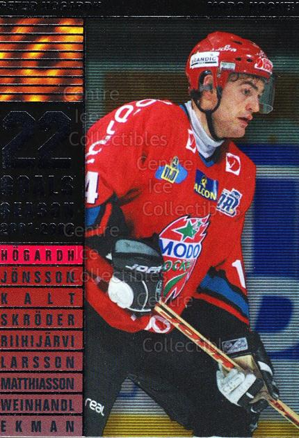 2002-03 Swedish Elitset Sharp Shooters #1 Peter Hogardh<br/>3 In Stock - $3.00 each - <a href=https://centericecollectibles.foxycart.com/cart?name=2002-03%20Swedish%20Elitset%20Sharp%20Shooters%20%231%20Peter%20Hogardh...&quantity_max=3&price=$3.00&code=286741 class=foxycart> Buy it now! </a>
