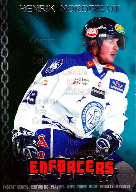 2003-04 Swedish Elitset Enforcers #9 Henrik Nordfeldt<br/>1 In Stock - $3.00 each - <a href=https://centericecollectibles.foxycart.com/cart?name=2003-04%20Swedish%20Elitset%20Enforcers%20%239%20Henrik%20Nordfeld...&price=$3.00&code=286757 class=foxycart> Buy it now! </a>