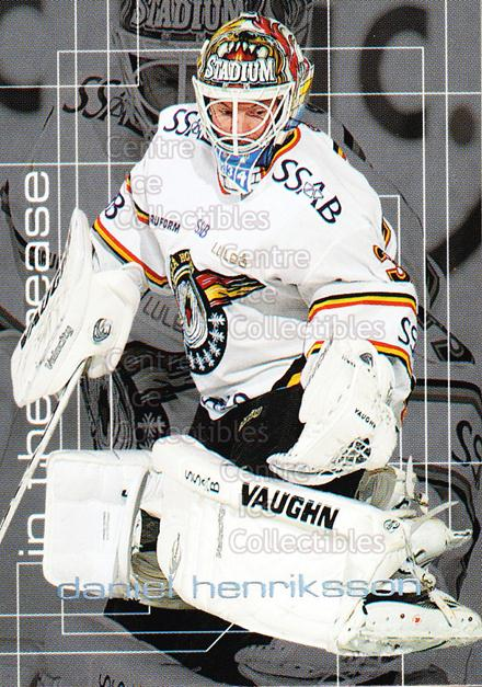 2004-05 Swedish Elitset In The Crease #7 Daniel Henriksson<br/>3 In Stock - $3.00 each - <a href=https://centericecollectibles.foxycart.com/cart?name=2004-05%20Swedish%20Elitset%20In%20The%20Crease%20%237%20Daniel%20Henrikss...&quantity_max=3&price=$3.00&code=286806 class=foxycart> Buy it now! </a>