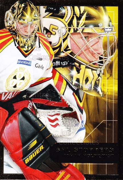 2005-06 Swedish Elitset SHL Stoppers #1 Johan Holmqvist<br/>2 In Stock - $3.00 each - <a href=https://centericecollectibles.foxycart.com/cart?name=2005-06%20Swedish%20Elitset%20SHL%20Stoppers%20%231%20Johan%20Holmqvist...&price=$3.00&code=286826 class=foxycart> Buy it now! </a>