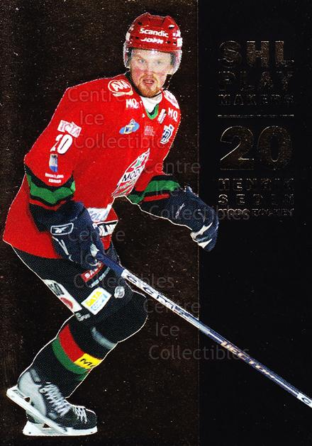 2005-06 Swedish Elitset SHL Play Makers #4 Henrik Sedin<br/>2 In Stock - $3.00 each - <a href=https://centericecollectibles.foxycart.com/cart?name=2005-06%20Swedish%20Elitset%20SHL%20Play%20Makers%20%234%20Henrik%20Sedin...&quantity_max=2&price=$3.00&code=286870 class=foxycart> Buy it now! </a>