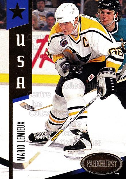 1993-94 Parkhurst USA/Canada Gold #2 Mario Lemieux<br/>4 In Stock - $3.00 each - <a href=https://centericecollectibles.foxycart.com/cart?name=1993-94%20Parkhurst%20USA/Canada%20Gold%20%232%20Mario%20Lemieux...&quantity_max=4&price=$3.00&code=286908 class=foxycart> Buy it now! </a>