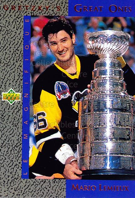 1993-94 Upper Deck Wayne Gretzky Great Ones #4 Mario Lemieux, Wayne Gretzky, Stanley Cup<br/>15 In Stock - $3.00 each - <a href=https://centericecollectibles.foxycart.com/cart?name=1993-94%20Upper%20Deck%20Wayne%20Gretzky%20Great%20Ones%20%234%20Mario%20Lemieux,%20...&quantity_max=15&price=$3.00&code=286914 class=foxycart> Buy it now! </a>