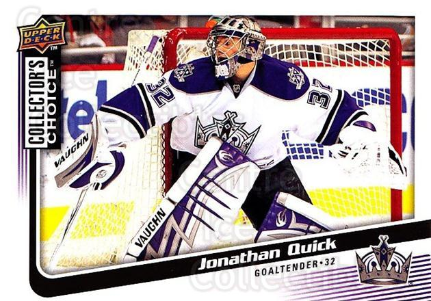 2009-10 Collectors Choice #28 Jonathan Quick<br/>4 In Stock - $2.00 each - <a href=https://centericecollectibles.foxycart.com/cart?name=2009-10%20Collectors%20Choice%20%2328%20Jonathan%20Quick...&quantity_max=4&price=$2.00&code=287010 class=foxycart> Buy it now! </a>