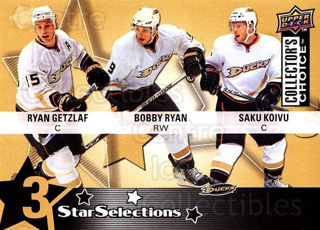 2009-10 Collectors Choice #201 Saku Koivu, Bobby Ryan, Ryan Getzlaf<br/>1 In Stock - $2.00 each - <a href=https://centericecollectibles.foxycart.com/cart?name=2009-10%20Collectors%20Choice%20%23201%20Saku%20Koivu,%20Bob...&quantity_max=1&price=$2.00&code=287183 class=foxycart> Buy it now! </a>
