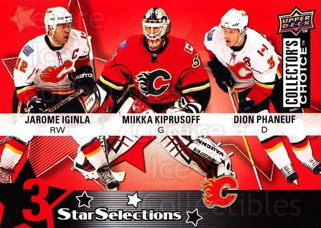 2009-10 Collectors Choice #205 Jarome Iginla, Miikka Kiprusoff, Dion Phaneuf<br/>1 In Stock - $2.00 each - <a href=https://centericecollectibles.foxycart.com/cart?name=2009-10%20Collectors%20Choice%20%23205%20Jarome%20Iginla,%20...&quantity_max=1&price=$2.00&code=287187 class=foxycart> Buy it now! </a>