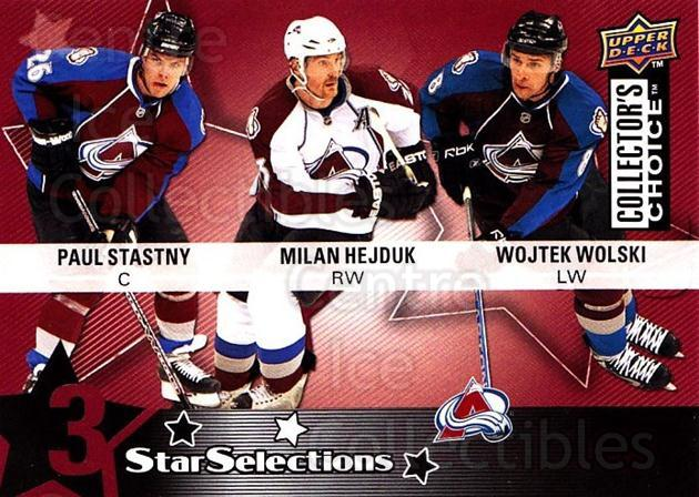 2009-10 Collectors Choice #208 Milan Hejduk, Paul Stastny, Wojtek Wolski<br/>3 In Stock - $2.00 each - <a href=https://centericecollectibles.foxycart.com/cart?name=2009-10%20Collectors%20Choice%20%23208%20Milan%20Hejduk,%20P...&quantity_max=3&price=$2.00&code=287190 class=foxycart> Buy it now! </a>