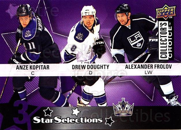 2009-10 Collectors Choice #214 Alexander Frolov, Anze Kopitar, Drew Doughty<br/>2 In Stock - $2.00 each - <a href=https://centericecollectibles.foxycart.com/cart?name=2009-10%20Collectors%20Choice%20%23214%20Alexander%20Frolo...&quantity_max=2&price=$2.00&code=287196 class=foxycart> Buy it now! </a>