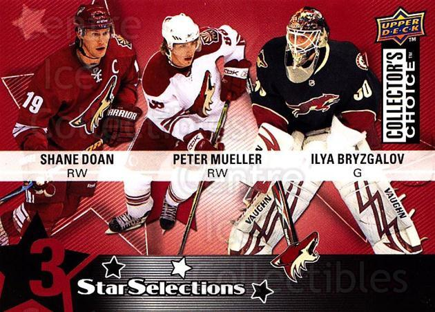 2009-10 Collectors Choice #223 Shane Doan, Ilya Bryzgalov, Peter Mueller<br/>2 In Stock - $2.00 each - <a href=https://centericecollectibles.foxycart.com/cart?name=2009-10%20Collectors%20Choice%20%23223%20Shane%20Doan,%20Ily...&quantity_max=2&price=$2.00&code=287205 class=foxycart> Buy it now! </a>