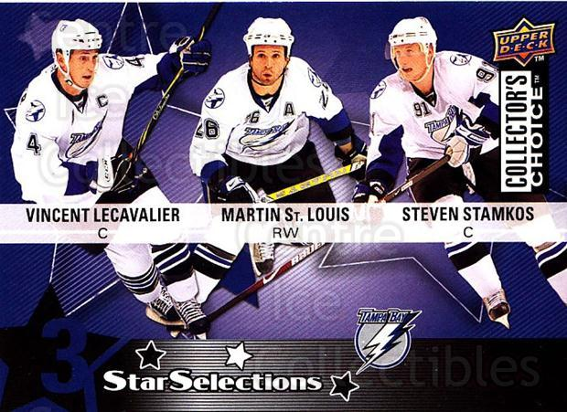 2009-10 Collectors Choice #227 Martin St. Louis, Vincent Lecavalier, Steven Stamkos<br/>2 In Stock - $2.00 each - <a href=https://centericecollectibles.foxycart.com/cart?name=2009-10%20Collectors%20Choice%20%23227%20Martin%20St.%20Loui...&quantity_max=2&price=$2.00&code=287209 class=foxycart> Buy it now! </a>
