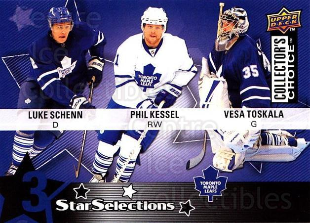 2009-10 Collectors Choice #228 Luke Schenn, Phil Kessel, Vesa Toskala<br/>3 In Stock - $2.00 each - <a href=https://centericecollectibles.foxycart.com/cart?name=2009-10%20Collectors%20Choice%20%23228%20Luke%20Schenn,%20Ph...&quantity_max=3&price=$2.00&code=287210 class=foxycart> Buy it now! </a>