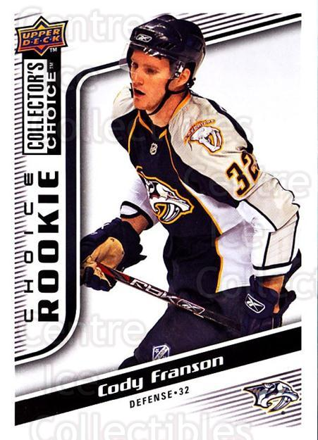 2009-10 Collectors Choice #269 Cody Franson<br/>8 In Stock - $2.00 each - <a href=https://centericecollectibles.foxycart.com/cart?name=2009-10%20Collectors%20Choice%20%23269%20Cody%20Franson...&quantity_max=8&price=$2.00&code=287251 class=foxycart> Buy it now! </a>