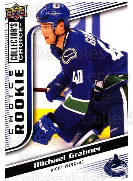 2009-10 Collectors Choice #299 Michael Grabner<br/>4 In Stock - $2.00 each - <a href=https://centericecollectibles.foxycart.com/cart?name=2009-10%20Collectors%20Choice%20%23299%20Michael%20Grabner...&quantity_max=4&price=$2.00&code=287281 class=foxycart> Buy it now! </a>