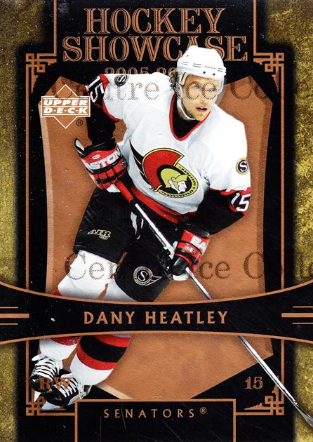 2005-06 Upper Deck Hockey Showcase #26 Dany Heatley<br/>1 In Stock - $3.00 each - <a href=https://centericecollectibles.foxycart.com/cart?name=2005-06%20Upper%20Deck%20Hockey%20Showcase%20%2326%20Dany%20Heatley...&quantity_max=1&price=$3.00&code=287340 class=foxycart> Buy it now! </a>