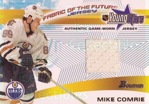 2001-02 Bowman YoungStars Fabric of the Future #FFJMC Mike Comrie<br/>2 In Stock - $5.00 each - <a href=https://centericecollectibles.foxycart.com/cart?name=2001-02%20Bowman%20YoungStars%20Fabric%20of%20the%20Future%20%23FFJMC%20Mike%20Comrie...&quantity_max=2&price=$5.00&code=287359 class=foxycart> Buy it now! </a>