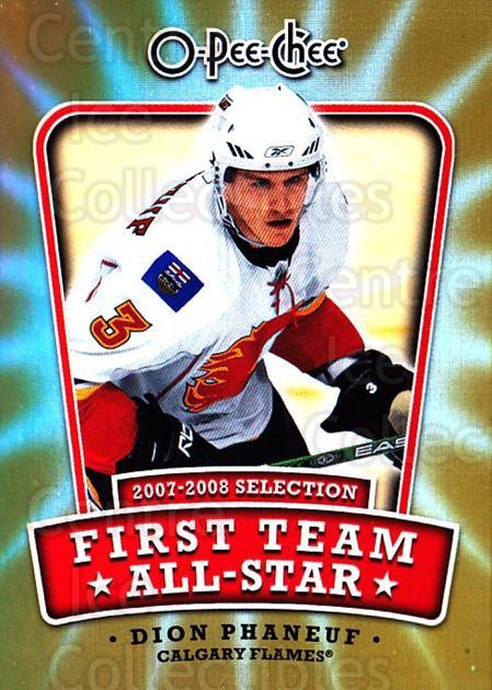 2008-09 O-pee-chee First Team #3 Dion Phaneuf<br/>1 In Stock - $2.00 each - <a href=https://centericecollectibles.foxycart.com/cart?name=2008-09%20O-pee-chee%20First%20Team%20%233%20Dion%20Phaneuf...&quantity_max=1&price=$2.00&code=287398 class=foxycart> Buy it now! </a>