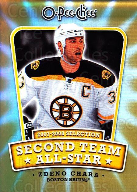 2008-09 O-pee-chee Second Team #6 Zdeno Chara<br/>1 In Stock - $2.00 each - <a href=https://centericecollectibles.foxycart.com/cart?name=2008-09%20O-pee-chee%20Second%20Team%20%236%20Zdeno%20Chara...&quantity_max=1&price=$2.00&code=287407 class=foxycart> Buy it now! </a>