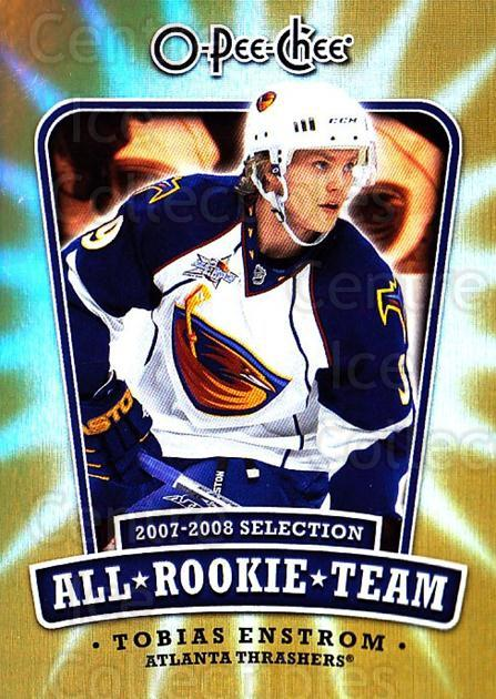 2008-09 O-pee-chee All Rookie Team #6 Tobias Enstrom<br/>2 In Stock - $2.00 each - <a href=https://centericecollectibles.foxycart.com/cart?name=2008-09%20O-pee-chee%20All%20Rookie%20Team%20%236%20Tobias%20Enstrom...&quantity_max=2&price=$2.00&code=287413 class=foxycart> Buy it now! </a>