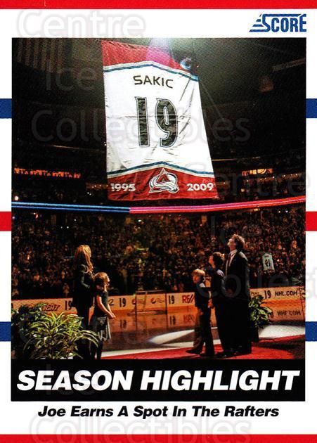 2010-11 Score #1 Joe Sakic<br/>1 In Stock - $2.00 each - <a href=https://centericecollectibles.foxycart.com/cart?name=2010-11%20Score%20%231%20Joe%20Sakic...&quantity_max=1&price=$2.00&code=287452 class=foxycart> Buy it now! </a>