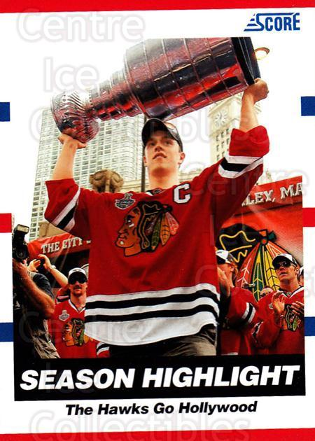 2010-11 Score #16 Jonathan Toews, Stanley Cup<br/>1 In Stock - $2.00 each - <a href=https://centericecollectibles.foxycart.com/cart?name=2010-11%20Score%20%2316%20Jonathan%20Toews,...&quantity_max=1&price=$2.00&code=287467 class=foxycart> Buy it now! </a>
