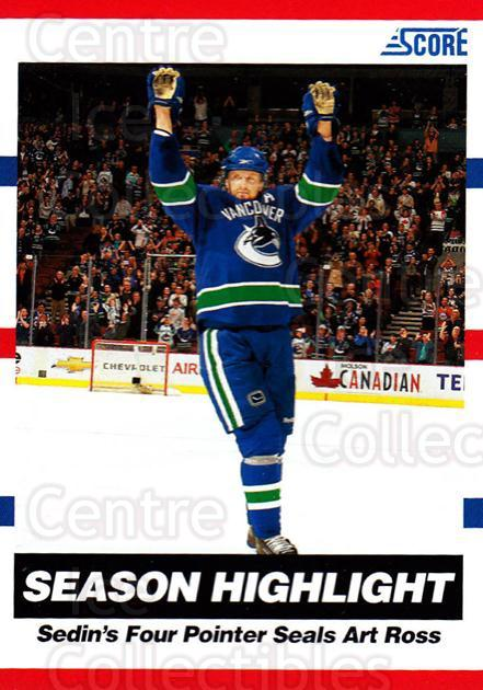 2010-11 Score #28 Henrik Sedin<br/>3 In Stock - $1.00 each - <a href=https://centericecollectibles.foxycart.com/cart?name=2010-11%20Score%20%2328%20Henrik%20Sedin...&quantity_max=3&price=$1.00&code=287479 class=foxycart> Buy it now! </a>