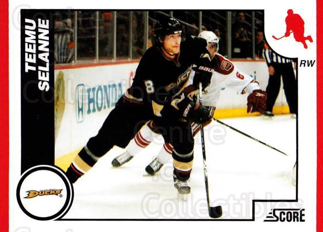 2010-11 Score #45 Teemu Selanne<br/>2 In Stock - $2.00 each - <a href=https://centericecollectibles.foxycart.com/cart?name=2010-11%20Score%20%2345%20Teemu%20Selanne...&quantity_max=2&price=$2.00&code=287496 class=foxycart> Buy it now! </a>