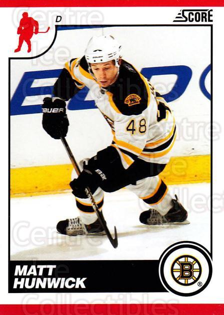 2010-11 Score #74 Matt Hunwick<br/>2 In Stock - $1.00 each - <a href=https://centericecollectibles.foxycart.com/cart?name=2010-11%20Score%20%2374%20Matt%20Hunwick...&quantity_max=2&price=$1.00&code=287525 class=foxycart> Buy it now! </a>