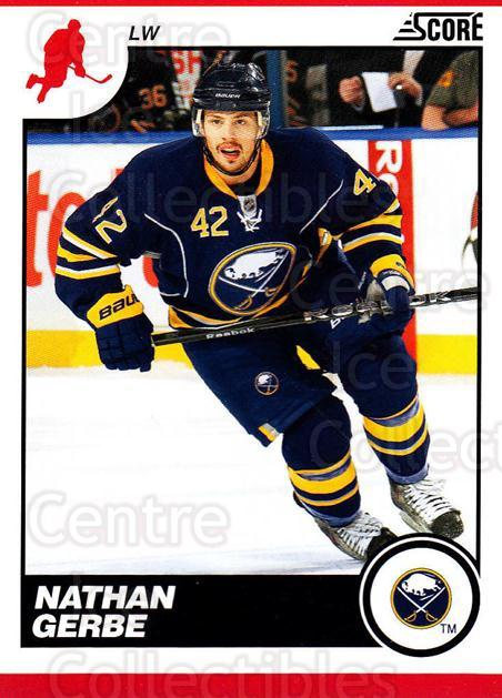 2010-11 Score #89 Nathan Gerbe<br/>2 In Stock - $1.00 each - <a href=https://centericecollectibles.foxycart.com/cart?name=2010-11%20Score%20%2389%20Nathan%20Gerbe...&quantity_max=2&price=$1.00&code=287540 class=foxycart> Buy it now! </a>