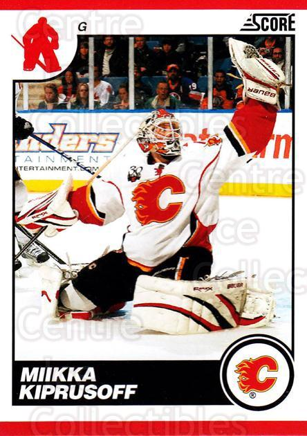 2010-11 Score #110 Miikka Kiprusoff<br/>3 In Stock - $1.00 each - <a href=https://centericecollectibles.foxycart.com/cart?name=2010-11%20Score%20%23110%20Miikka%20Kiprusof...&quantity_max=3&price=$1.00&code=287561 class=foxycart> Buy it now! </a>