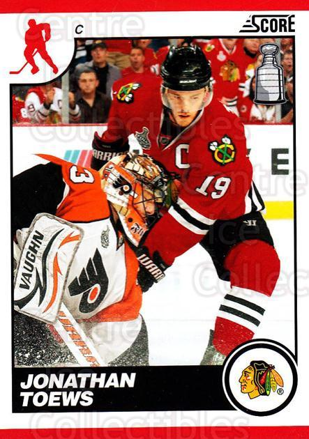 2010-11 Score #129 Jonathan Toews<br/>1 In Stock - $2.00 each - <a href=https://centericecollectibles.foxycart.com/cart?name=2010-11%20Score%20%23129%20Jonathan%20Toews...&quantity_max=1&price=$2.00&code=287580 class=foxycart> Buy it now! </a>