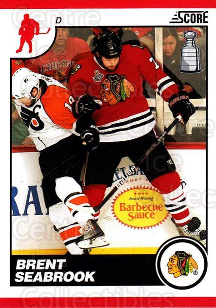 2010-11 Score #134 Brent Seabrook<br/>2 In Stock - $1.00 each - <a href=https://centericecollectibles.foxycart.com/cart?name=2010-11%20Score%20%23134%20Brent%20Seabrook...&quantity_max=2&price=$1.00&code=287585 class=foxycart> Buy it now! </a>