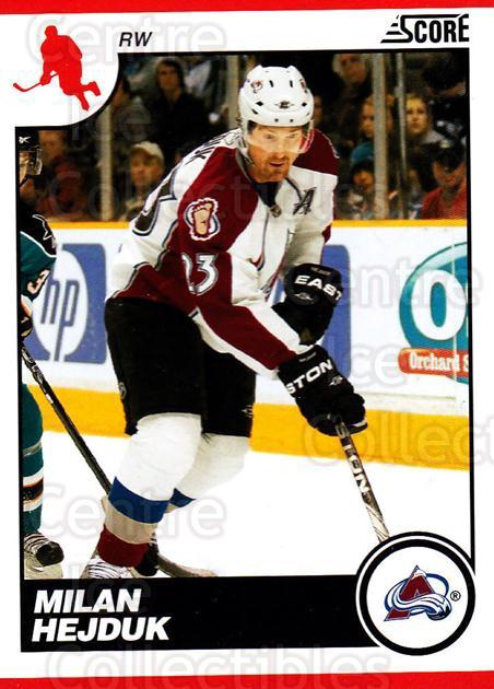 2010-11 Score #142 Milan Hejduk<br/>3 In Stock - $1.00 each - <a href=https://centericecollectibles.foxycart.com/cart?name=2010-11%20Score%20%23142%20Milan%20Hejduk...&quantity_max=3&price=$1.00&code=287593 class=foxycart> Buy it now! </a>