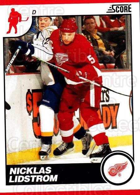 2010-11 Score #196 Nicklas Lidstrom<br/>2 In Stock - $1.00 each - <a href=https://centericecollectibles.foxycart.com/cart?name=2010-11%20Score%20%23196%20Nicklas%20Lidstro...&quantity_max=2&price=$1.00&code=287647 class=foxycart> Buy it now! </a>