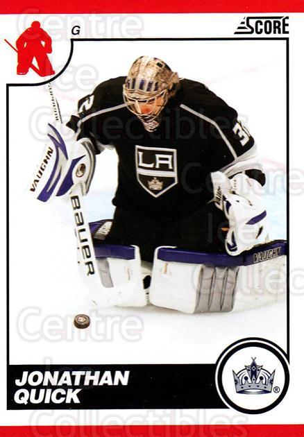 2010-11 Score #244 Jonathan Quick<br/>3 In Stock - $2.00 each - <a href=https://centericecollectibles.foxycart.com/cart?name=2010-11%20Score%20%23244%20Jonathan%20Quick...&quantity_max=3&price=$2.00&code=287695 class=foxycart> Buy it now! </a>