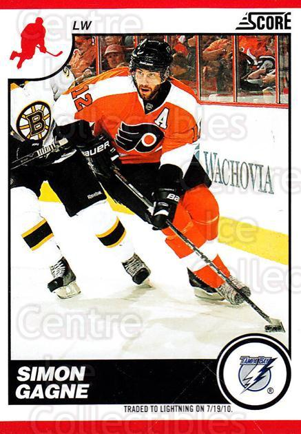 2010-11 Score #438 Simon Gagne<br/>3 In Stock - $1.00 each - <a href=https://centericecollectibles.foxycart.com/cart?name=2010-11%20Score%20%23438%20Simon%20Gagne...&quantity_max=3&price=$1.00&code=287889 class=foxycart> Buy it now! </a>