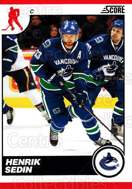 2010-11 Score #456 Henrik Sedin<br/>2 In Stock - $1.00 each - <a href=https://centericecollectibles.foxycart.com/cart?name=2010-11%20Score%20%23456%20Henrik%20Sedin...&quantity_max=2&price=$1.00&code=287907 class=foxycart> Buy it now! </a>