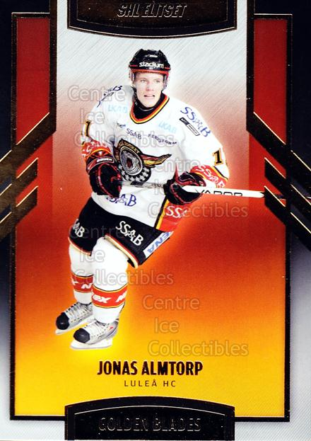 2008-09 Swedish Elitset Golden Blades #7 Jonas Almtorp<br/>2 In Stock - $3.00 each - <a href=https://centericecollectibles.foxycart.com/cart?name=2008-09%20Swedish%20Elitset%20Golden%20Blades%20%237%20Jonas%20Almtorp...&quantity_max=2&price=$3.00&code=288127 class=foxycart> Buy it now! </a>
