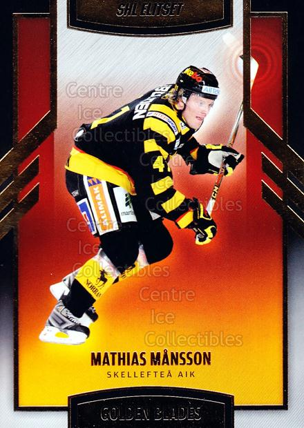 2008-09 Swedish Elitset Golden Blades #10 Mathias Mansson<br/>3 In Stock - $3.00 each - <a href=https://centericecollectibles.foxycart.com/cart?name=2008-09%20Swedish%20Elitset%20Golden%20Blades%20%2310%20Mathias%20Mansson...&quantity_max=3&price=$3.00&code=288130 class=foxycart> Buy it now! </a>