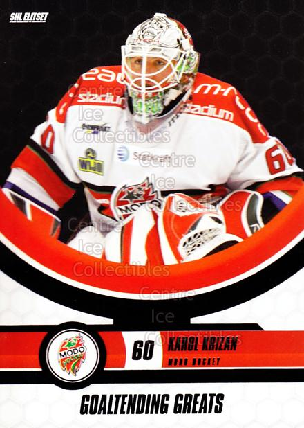 2008-09 Swedish Elitset Goaltending Greats #8 Karol Krizan<br/>3 In Stock - $3.00 each - <a href=https://centericecollectibles.foxycart.com/cart?name=2008-09%20Swedish%20Elitset%20Goaltending%20Greats%20%238%20Karol%20Krizan...&quantity_max=3&price=$3.00&code=288140 class=foxycart> Buy it now! </a>