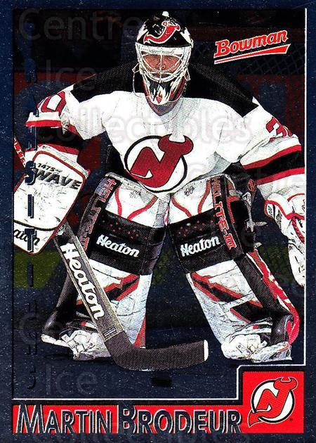 1995-96 Bowman Foil #70 Martin Brodeur<br/>3 In Stock - $5.00 each - <a href=https://centericecollectibles.foxycart.com/cart?name=1995-96%20Bowman%20Foil%20%2370%20Martin%20Brodeur...&price=$5.00&code=288330 class=foxycart> Buy it now! </a>